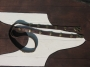 Leather belt with castings